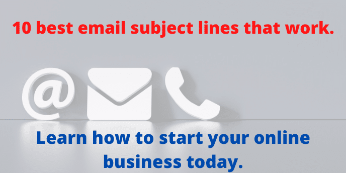 10 best email subject line that work