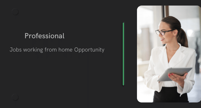 Jobs working from home opportunity