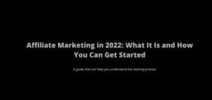 Affiliate Marketing 2022